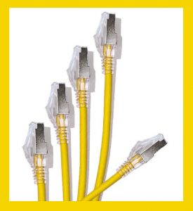 28awg yellow patch cords with yellow border